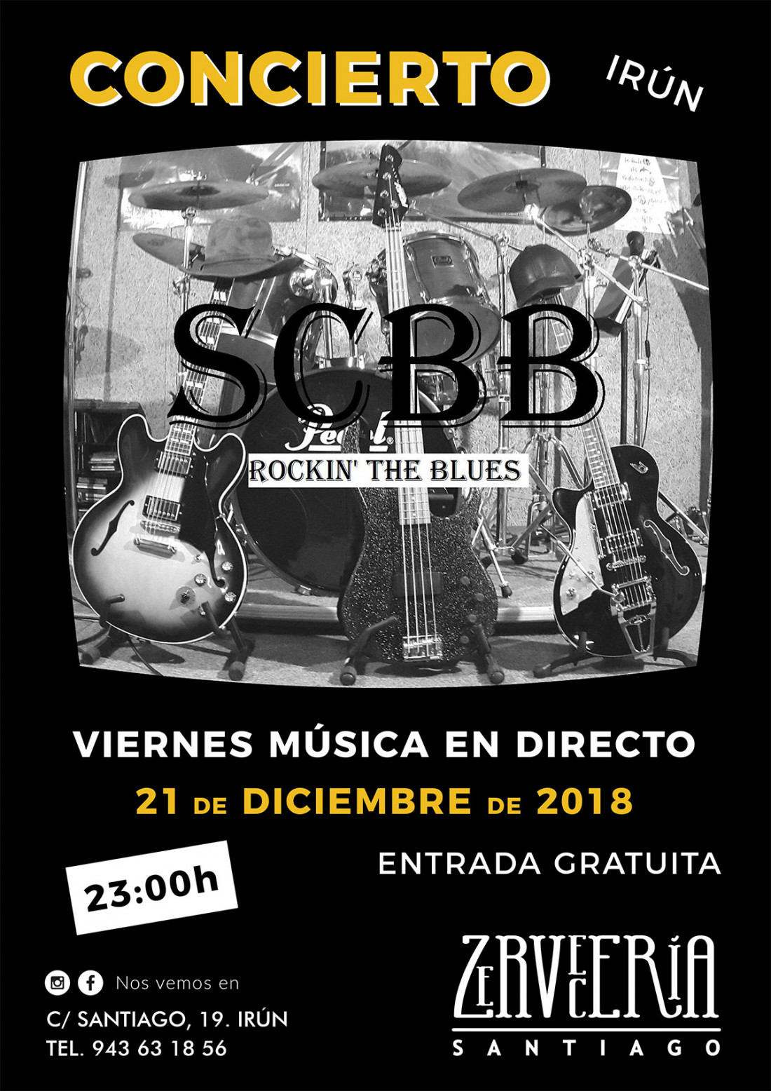 SSBC Rockin the blues en Cervecería Santiago